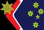 Australian flag design by John Blaxland. Artwork by Sancho Murphy.