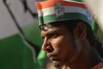 A supporter of the Indian Congress Party. Photo by AFP.