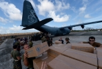 US marines load aid for the Philippines onto an Australian plane. This type of humanitarian cooperation may be a thing of the past.