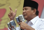 Don't sweat the small stuff. The West would be willing to look beyond a murky human rights record if Prabowo wins Indonesia's presidential election. Photo by AFP.