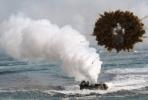 North Korea shells fall on South Korea's side of the border.