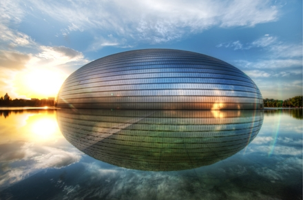China's National Centre for the Performing Arts (the Egg) in Beijing. Photo by Stuck in Customs on flickr.