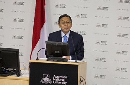 Indonesia Vice President Dr Boediono. Photo by Jimmy Walsh.